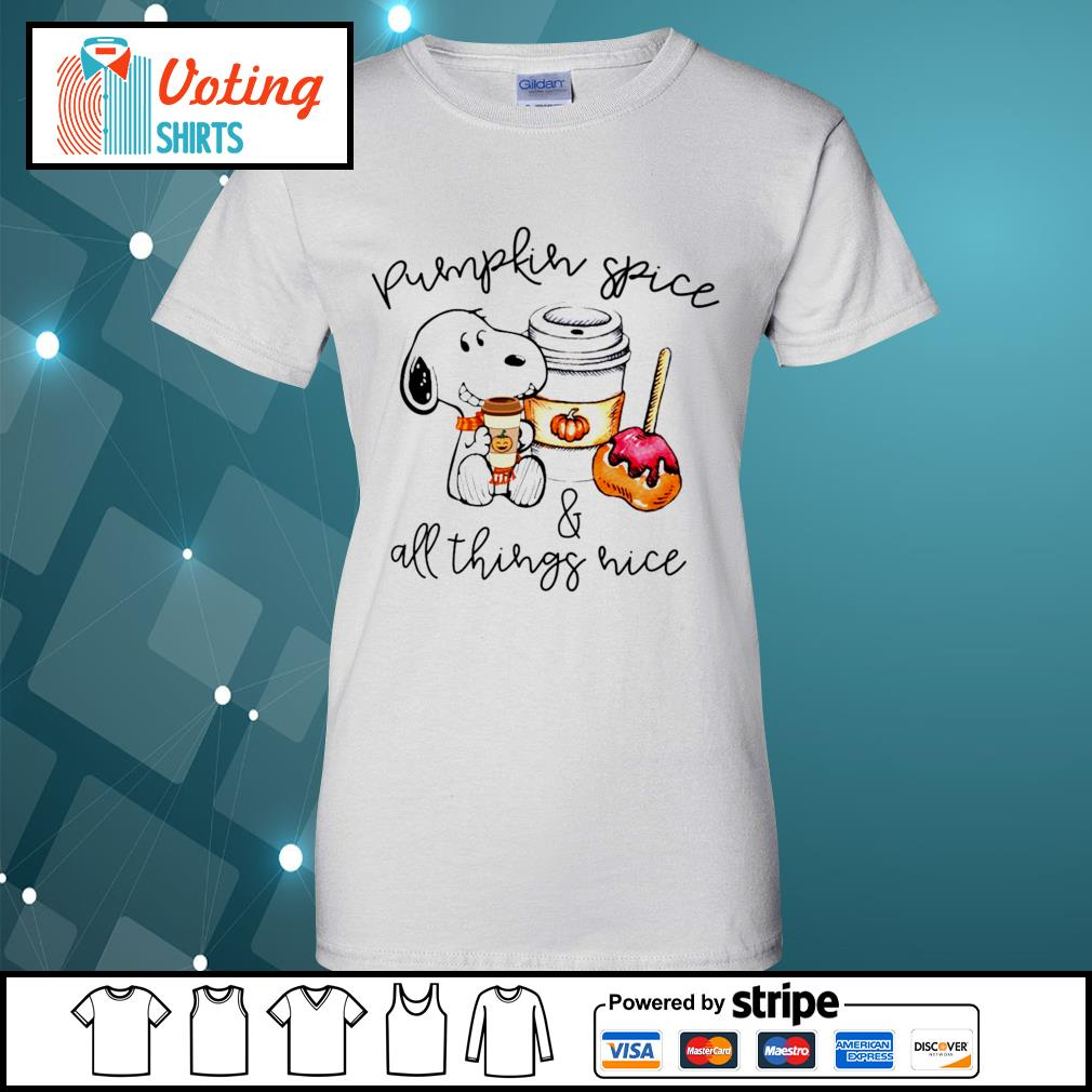 Halloween Snoopy pumpkin spice and all things nice s ladies-tee