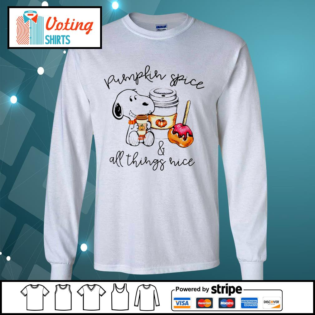 Halloween Snoopy pumpkin spice and all things nice s longsleeve-tee