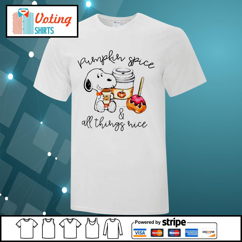 Halloween Snoopy pumpkin spice and all things nice shirt