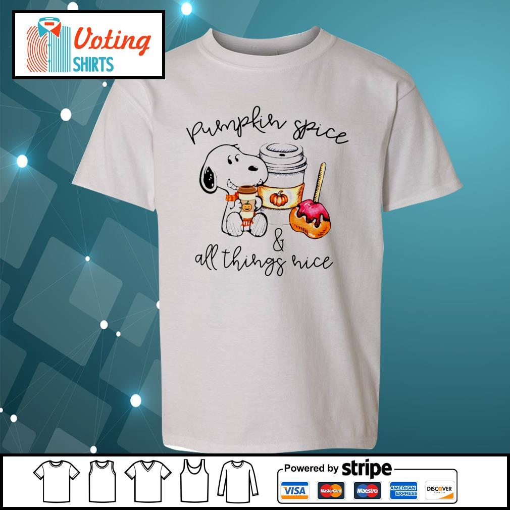 Halloween Snoopy pumpkin spice and all things nice s youth-tee