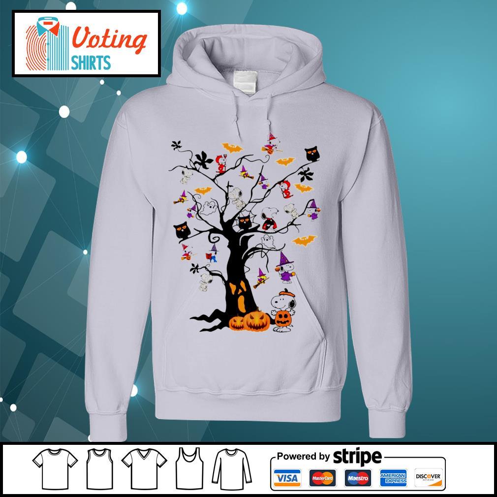 Halloween Snoopy pumpkin tree s hoodie