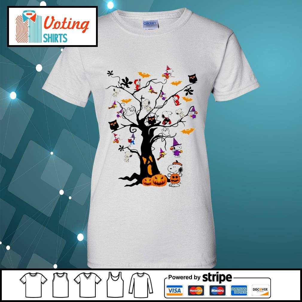 Halloween Snoopy pumpkin tree s ladies-tee