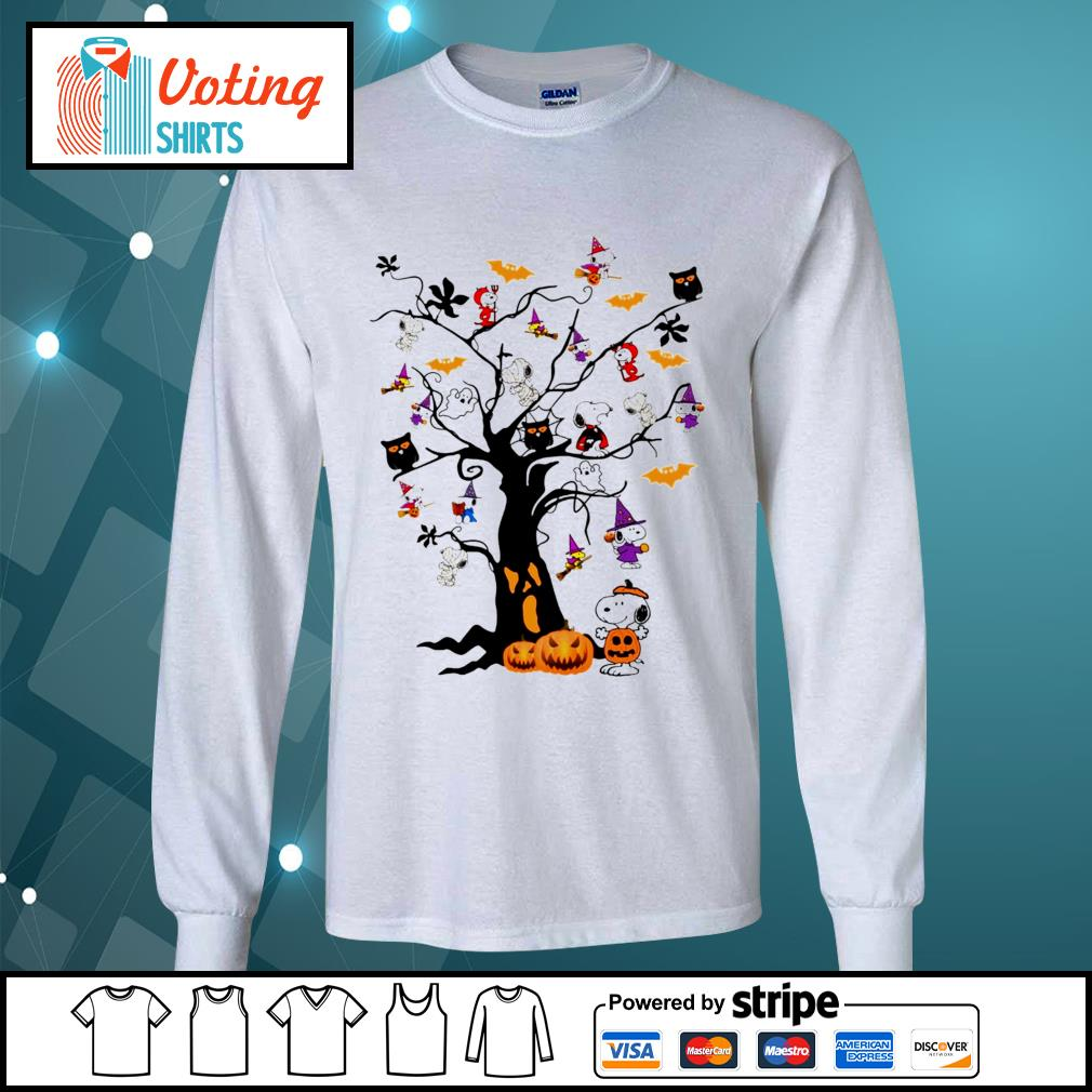 Halloween Snoopy pumpkin tree s longsleeve-tee