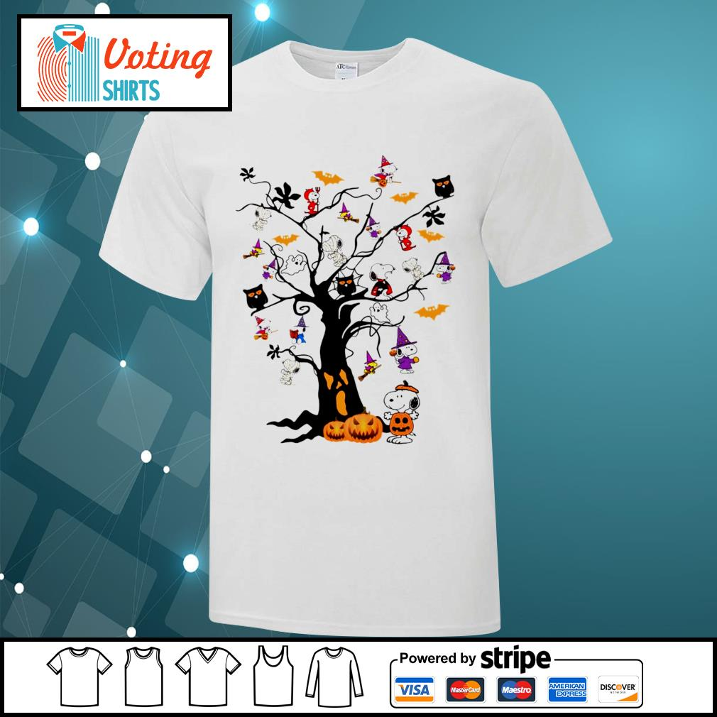 Halloween Snoopy pumpkin tree shirt