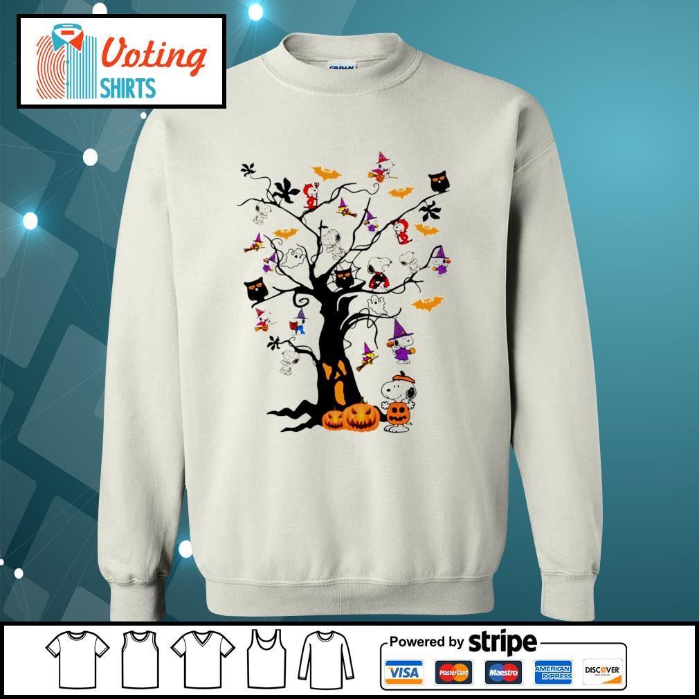 Halloween Snoopy pumpkin tree s sweater
