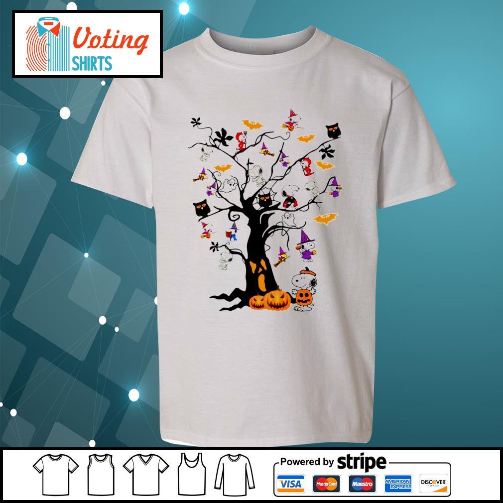 Halloween Snoopy pumpkin tree s youth-tee
