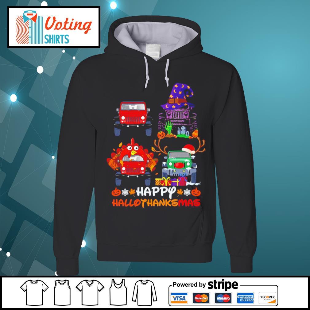 Happy Hallothanksmas Jeeps Shirt hoodie