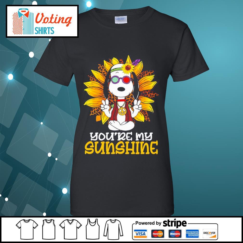 Hippie Snoopy sunflower you're my sunshine s ladies-tee