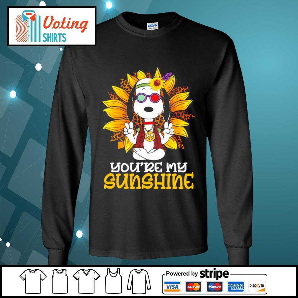 Hippie Snoopy sunflower you're my sunshine s longsleeve-tee