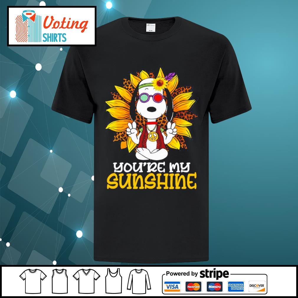 Hippie Snoopy sunflower you're my sunshine shirt