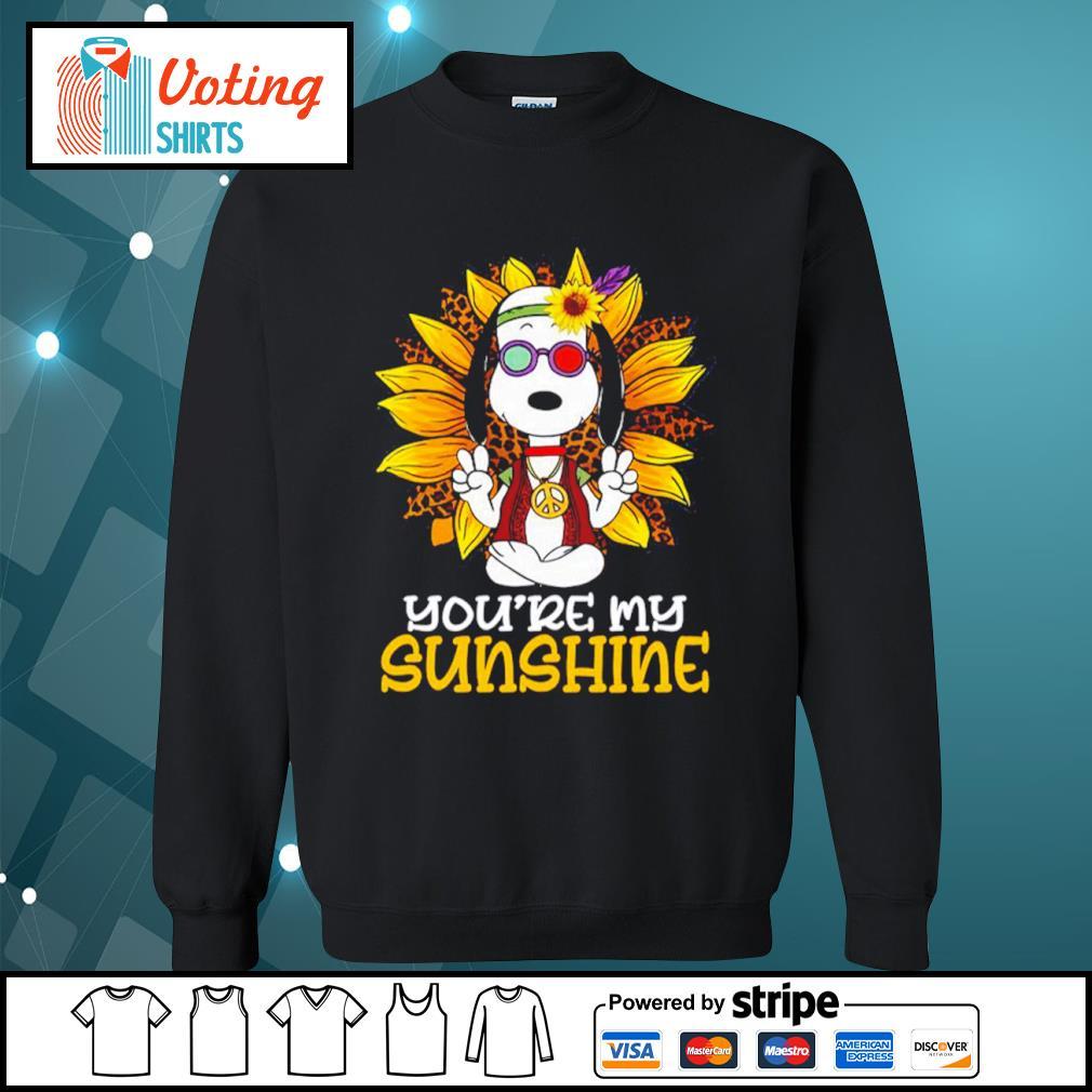 Hippie Snoopy sunflower you're my sunshine s sweater