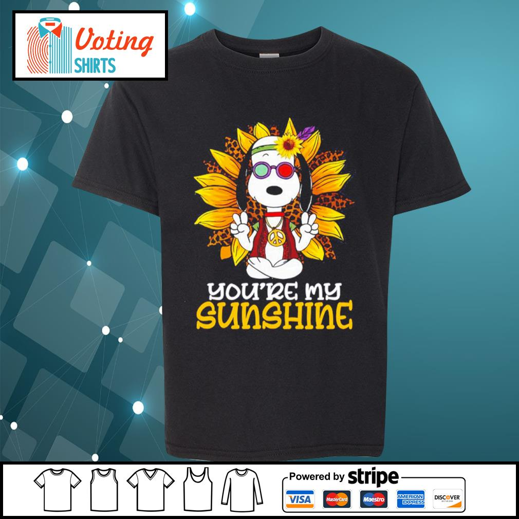 Hippie Snoopy sunflower you're my sunshine s youth-tee