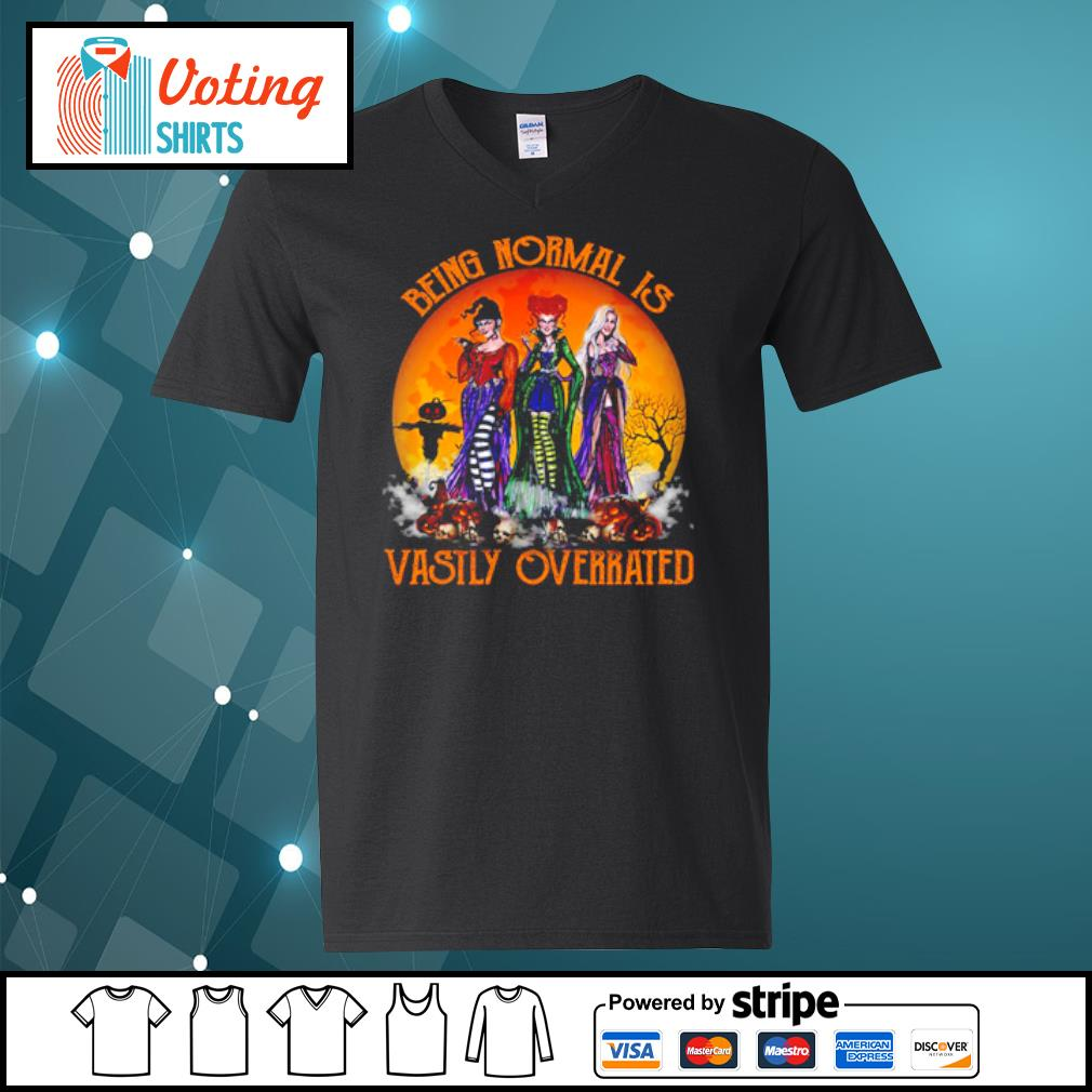 Hocus Pocus being normal is vastly overrated s v-neck-t-shirt