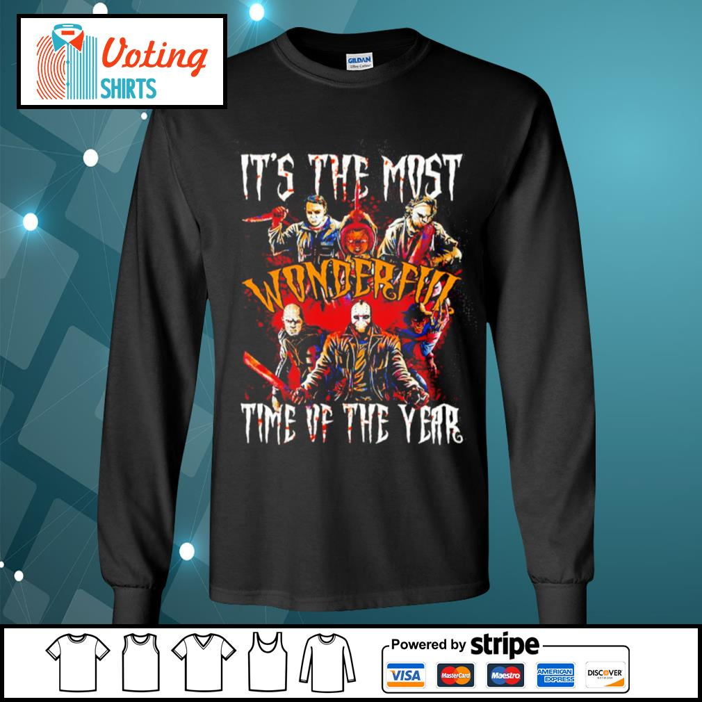 Horror movies characters it's the most wonderful time of the year Halloween s longsleeve-tee