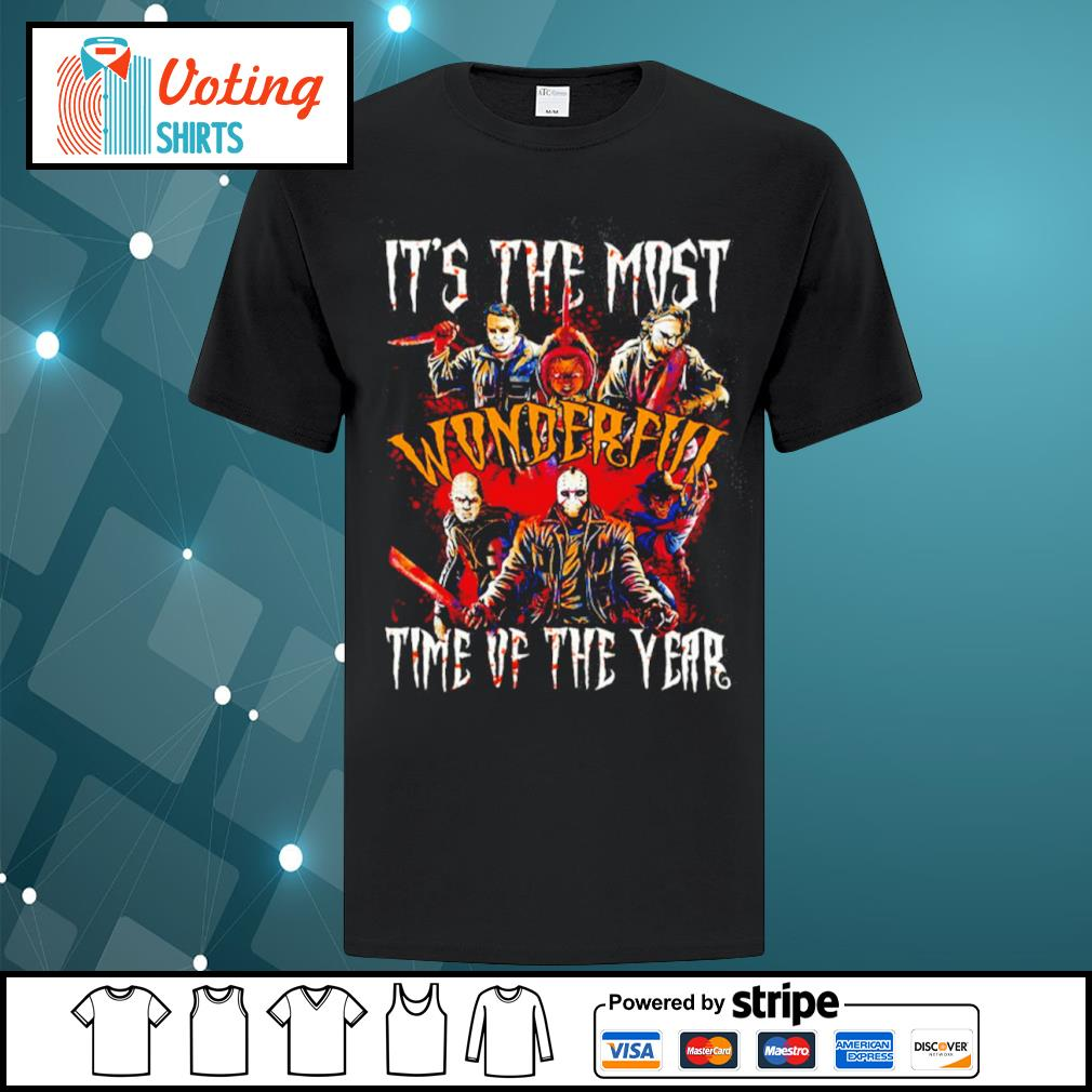 Horror movies characters it's the most wonderful time of the year Halloween shirt