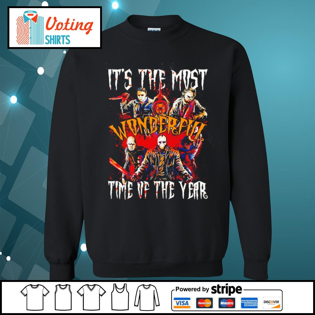 Horror movies characters it's the most wonderful time of the year Halloween s sweater