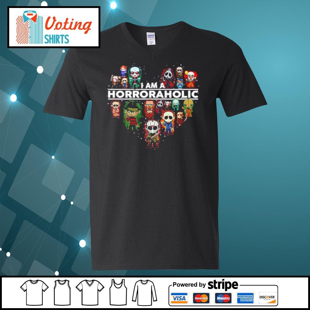 I am a Horroraholic Halloween s v-neck-t-shirt