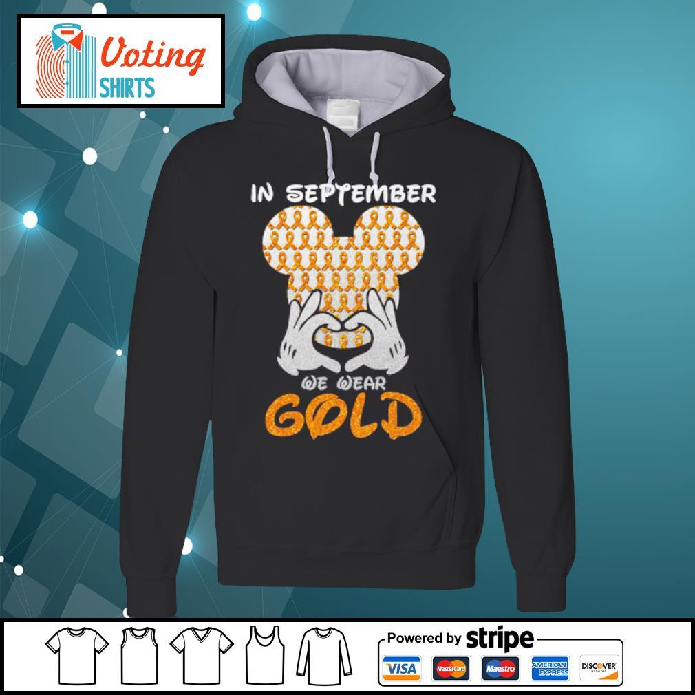In September we wear gold s hoodie
