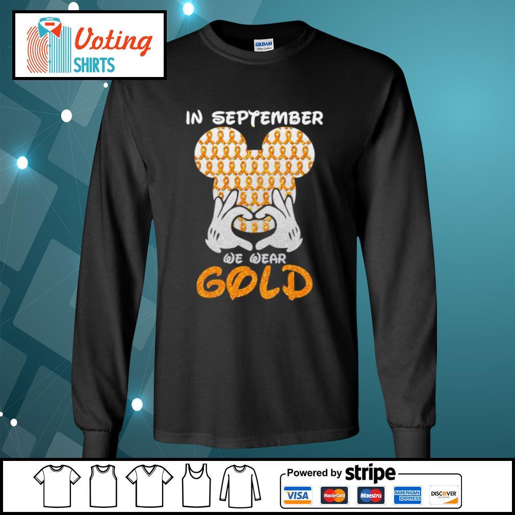 In September we wear gold s longsleeve-tee