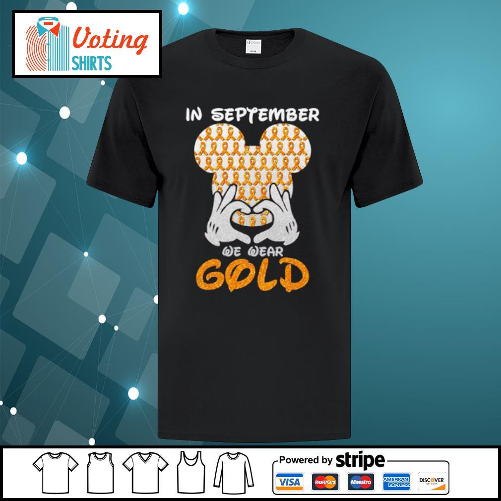 In September we wear gold shirt