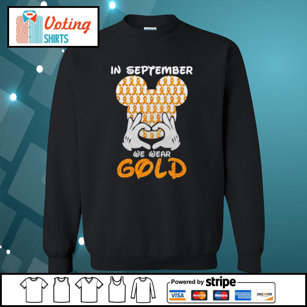 In September we wear gold s sweater