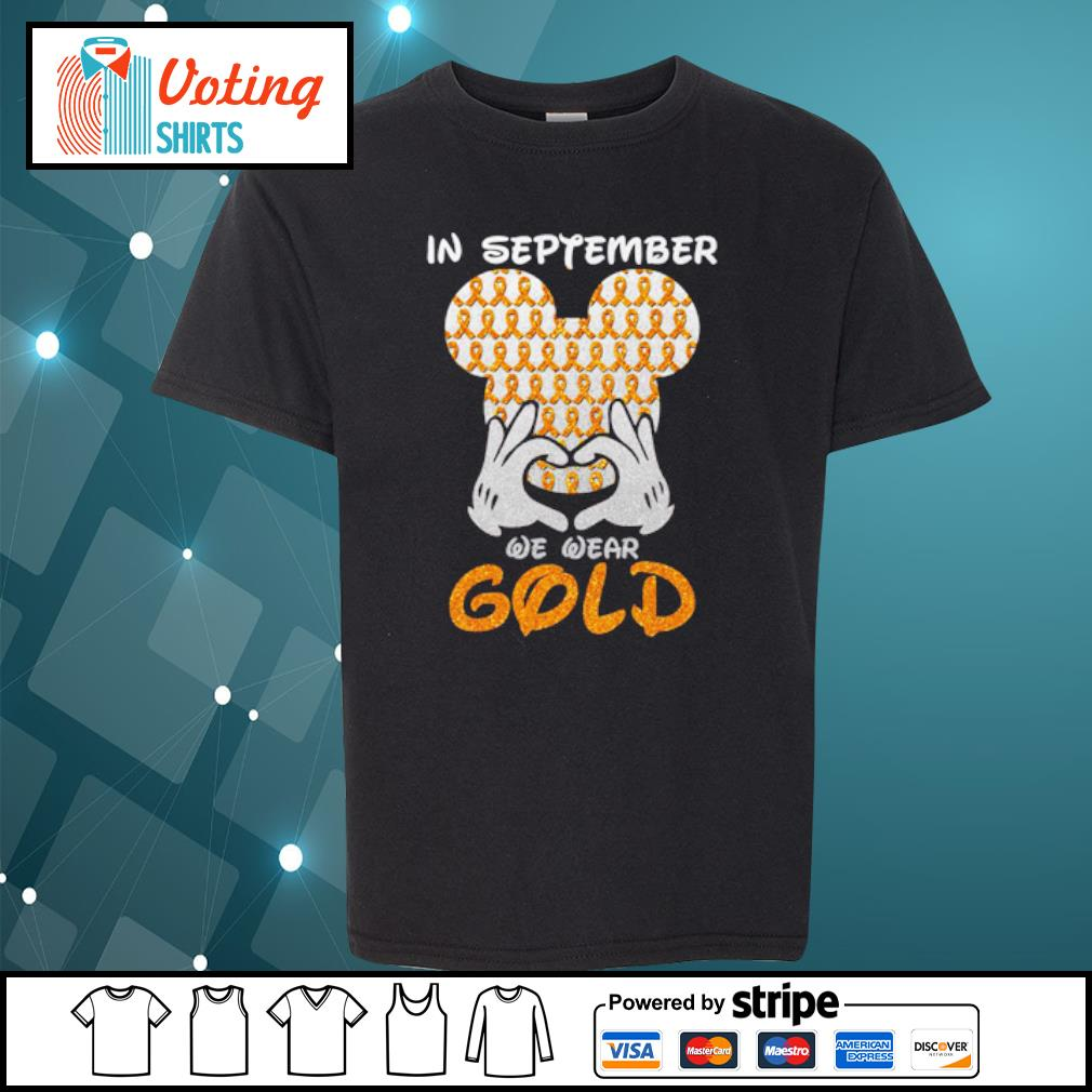 In September we wear gold s youth-tee