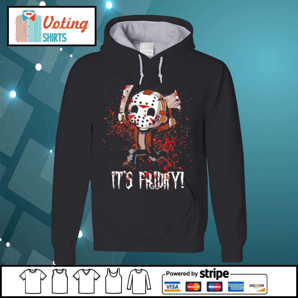 It's Friday Jason Voorhees Cute Chibi s hoodie