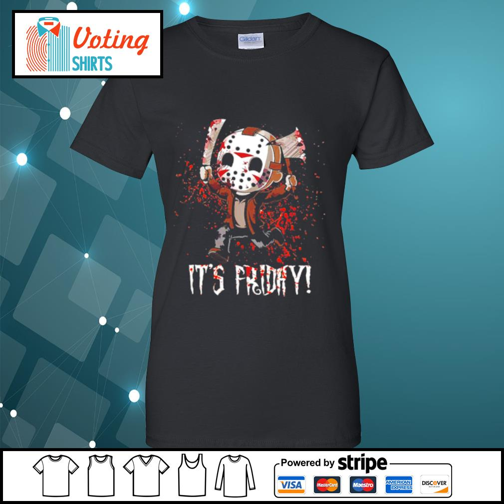 It's Friday Jason Voorhees Cute Chibi s ladies-tee