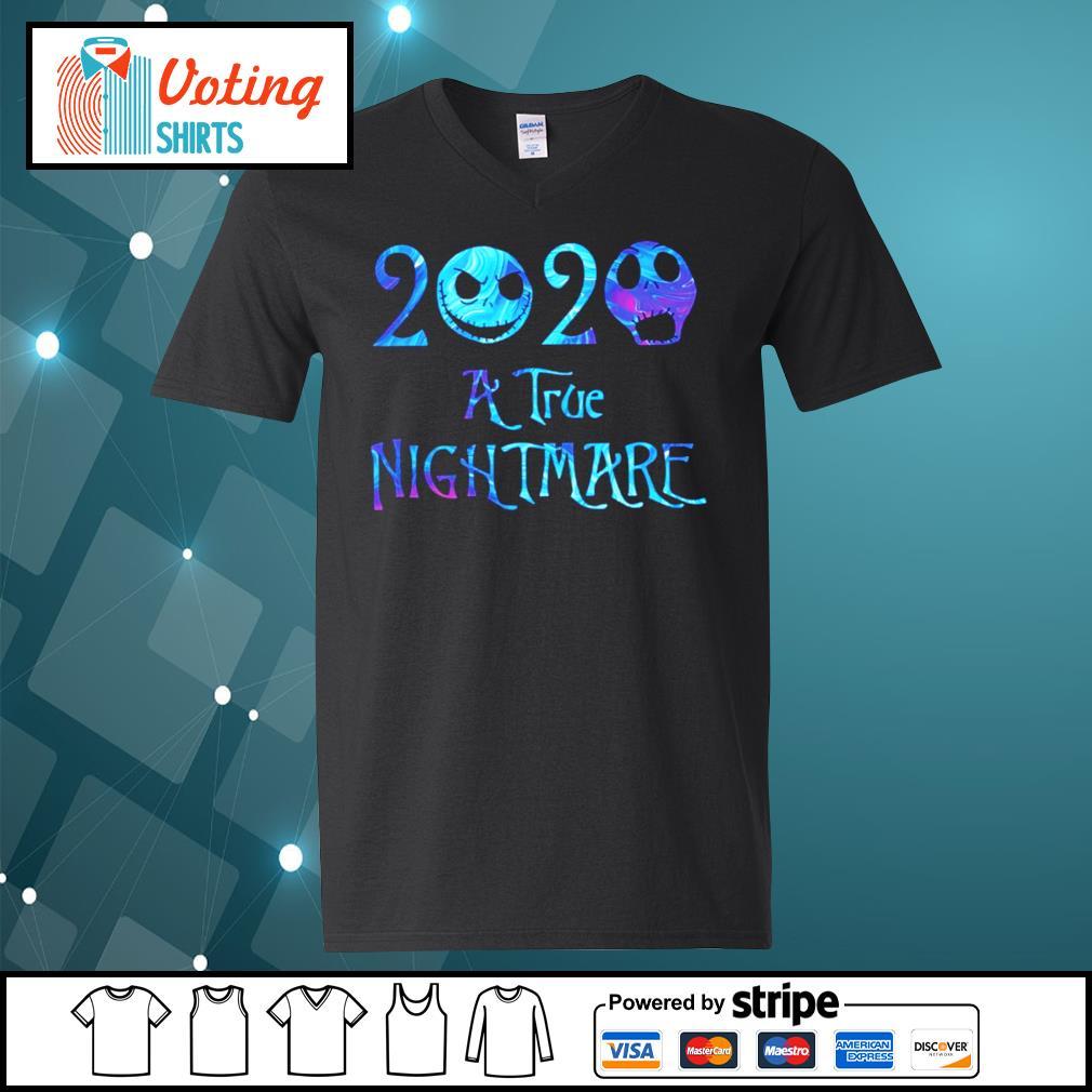 Jack Skellington 2020 A true nightmare s v-neck-t-shirt
