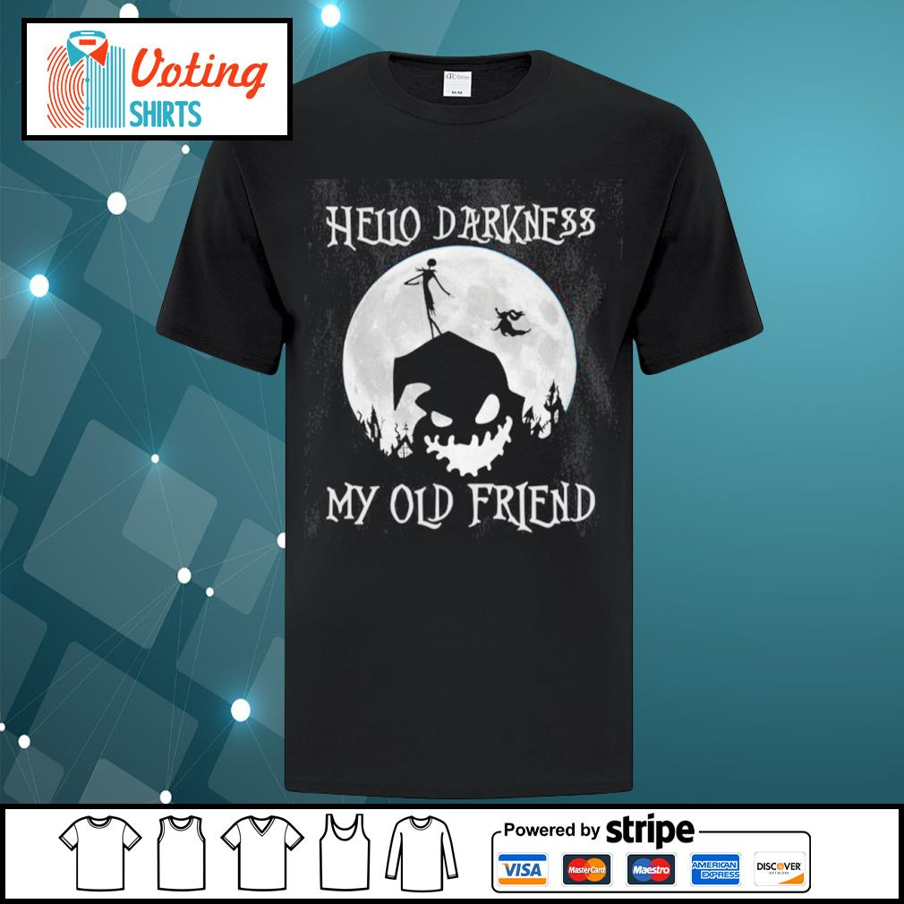 Jack Skellington and Oogie Boogie hello darkness my old friend shirt