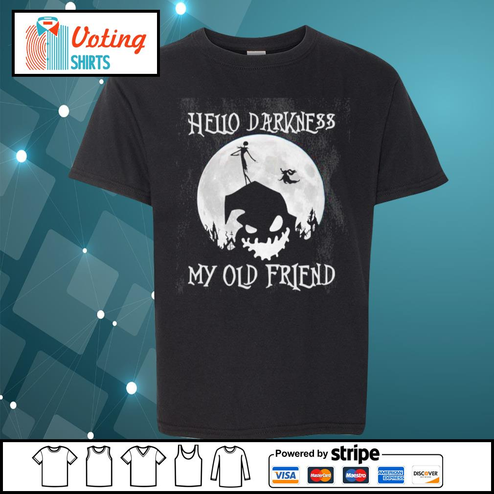 Jack Skellington and Oogie Boogie hello darkness my old friend s youth-tee