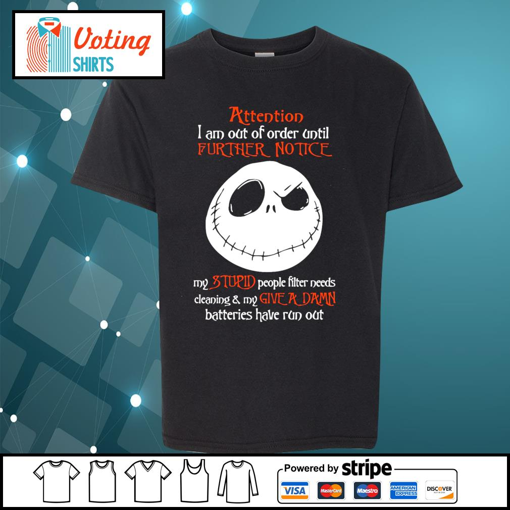 Jack Skellington attention I am out of order until s youth-tee