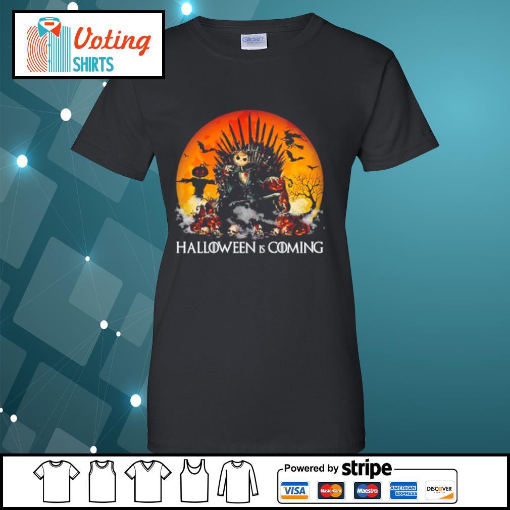 Jack Skellington Halloween is coming Game of Thrones s ladies-tee