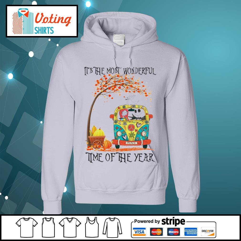 Jack Skellington Sally Zero it's the most wonderful time of the year s hoodie