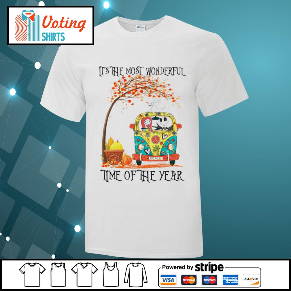 Jack Skellington Sally Zero it's the most wonderful time of the year shirt