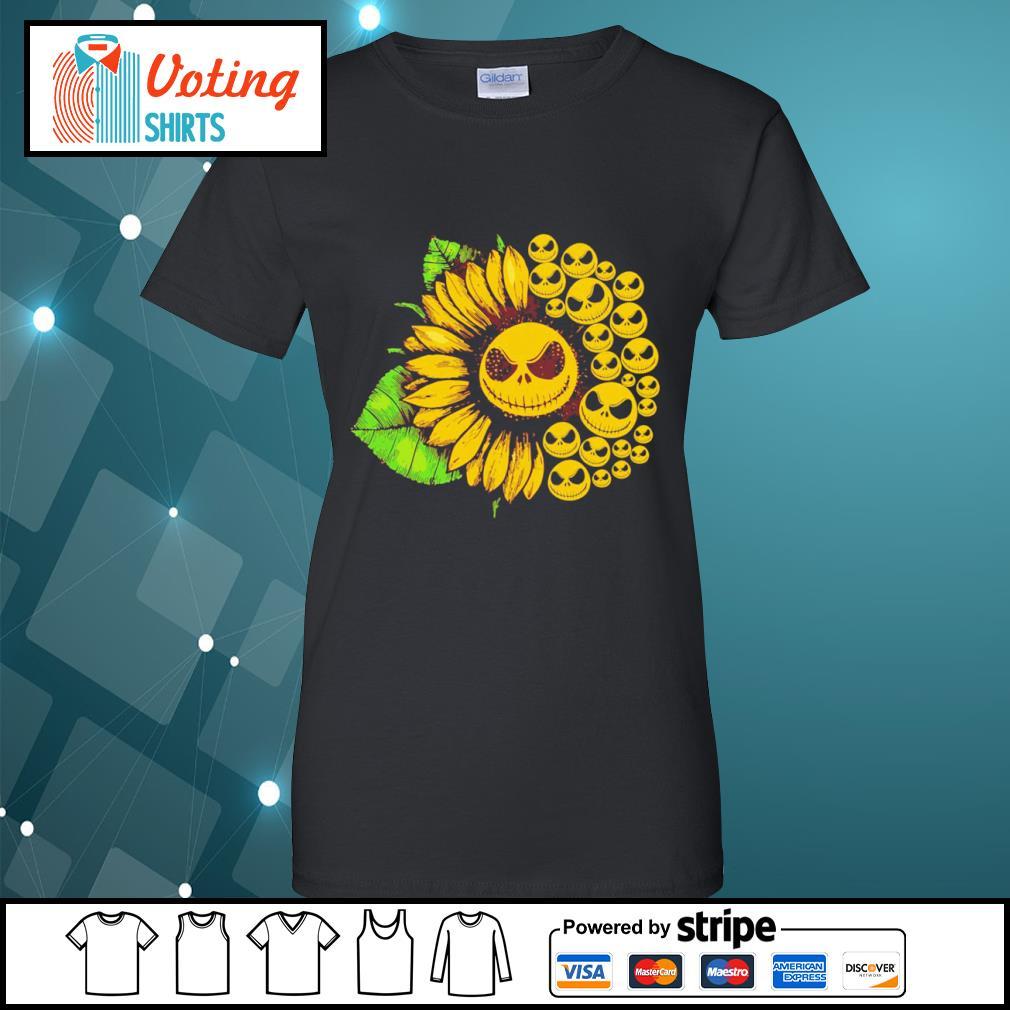 Jack Skellington sunflower s ladies-tee