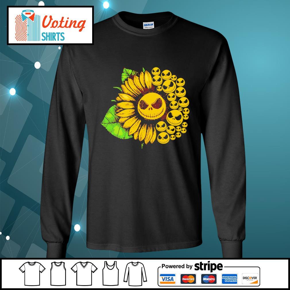 Jack Skellington sunflower s longsleeve-tee