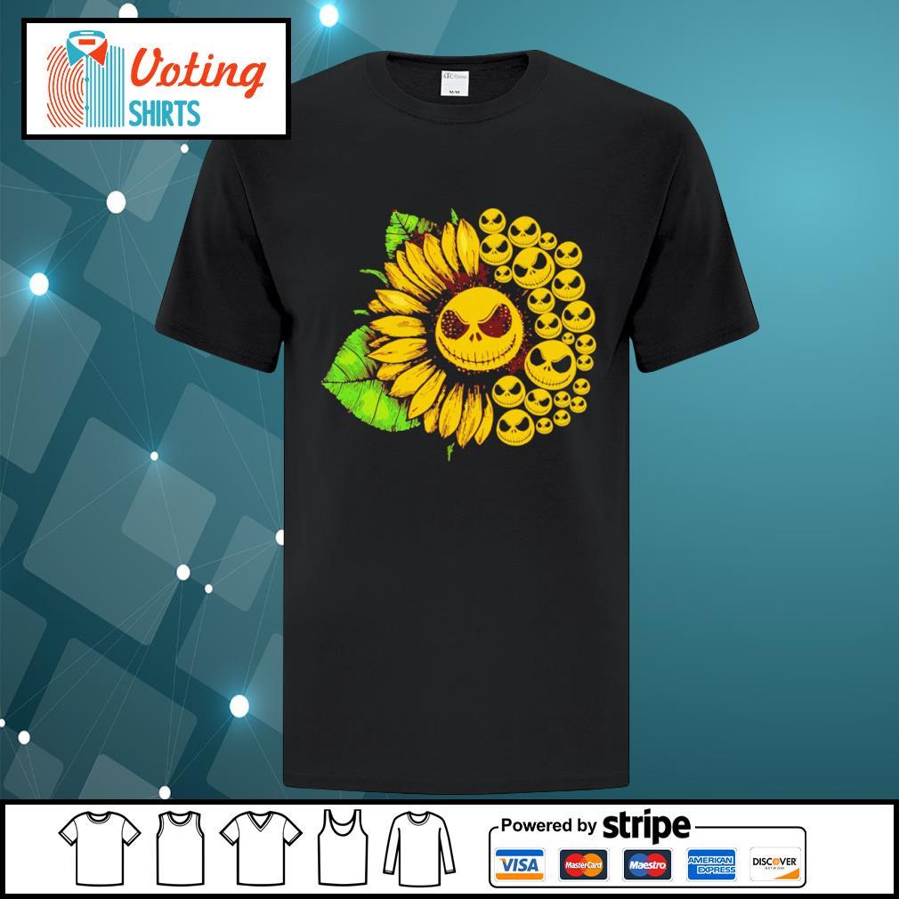 Jack Skellington sunflower shirt