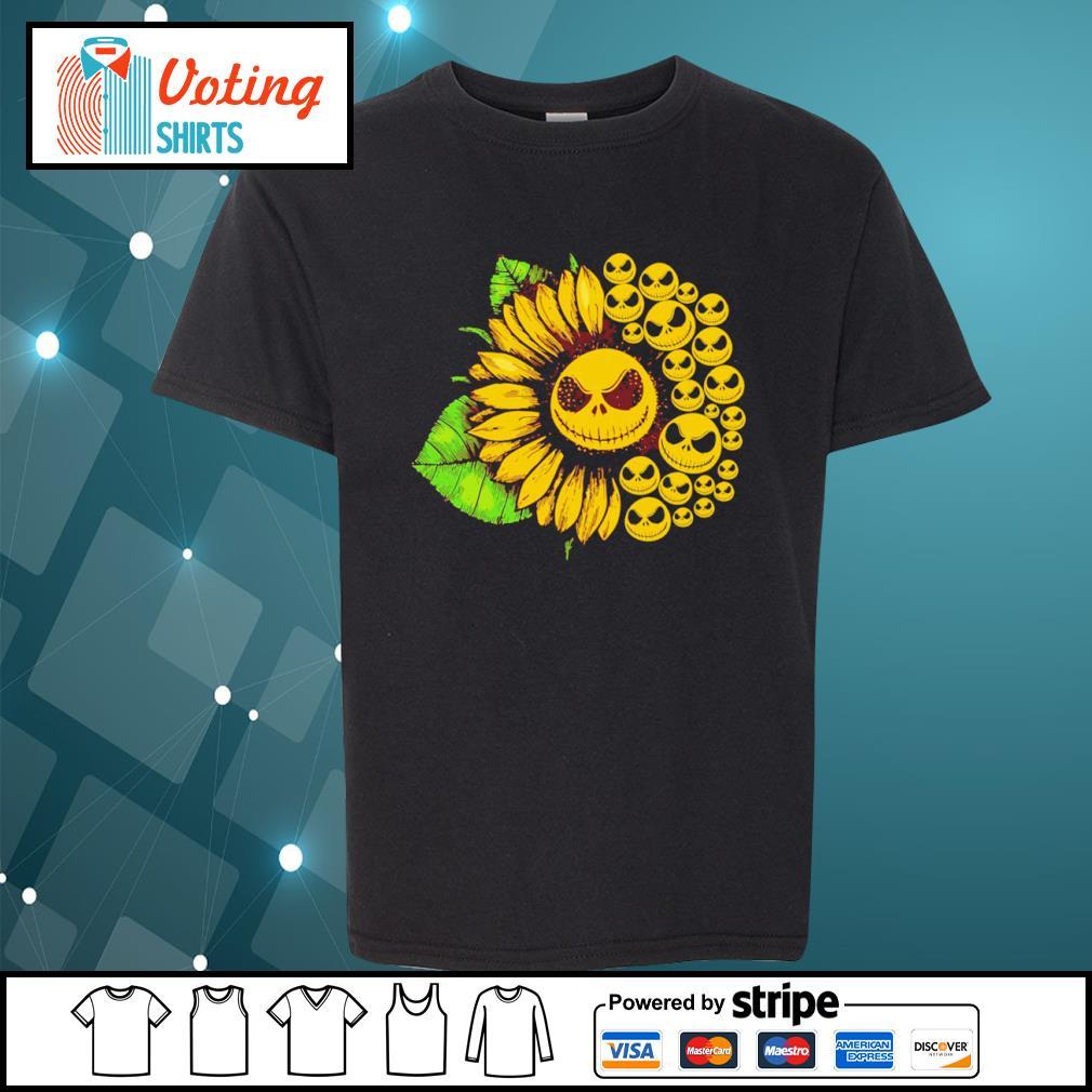 Jack Skellington sunflower s youth-tee