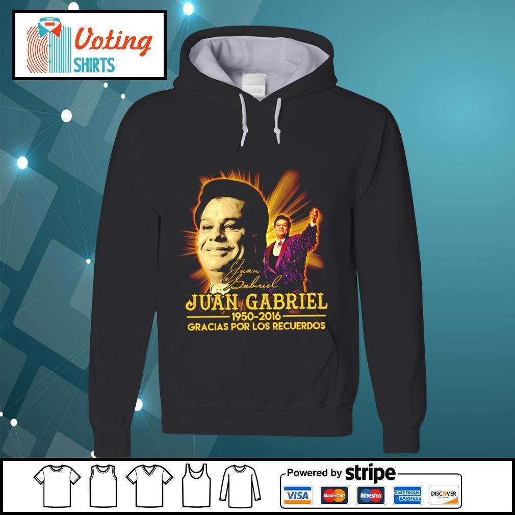 Juan Gabriel 1950 2016 gracias por los recuerdos signatures s hoodie