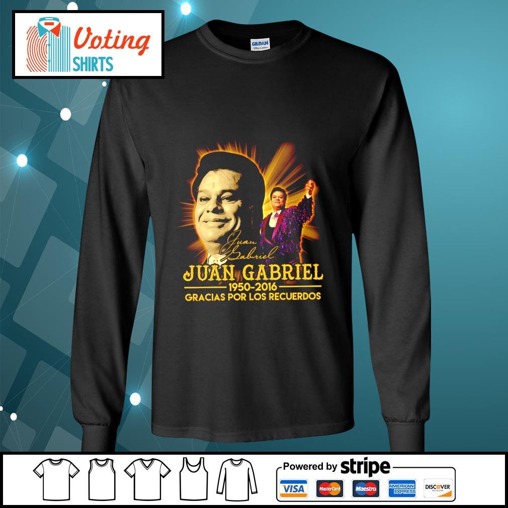 Juan Gabriel 1950 2016 gracias por los recuerdos signatures s longsleeve-tee