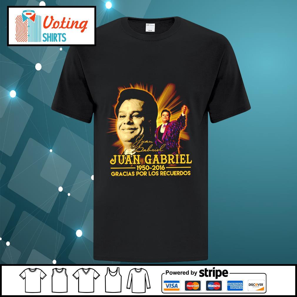 Juan Gabriel 1950 2016 gracias por los recuerdos signatures shirt
