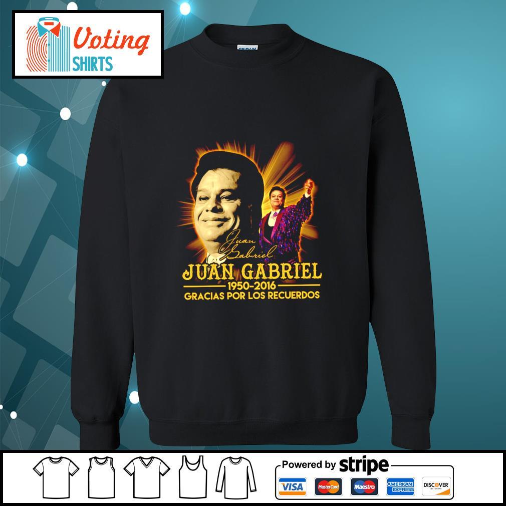 Juan Gabriel 1950 2016 gracias por los recuerdos signatures s sweater