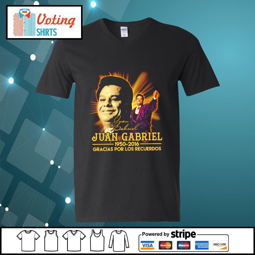 Juan Gabriel 1950 2016 gracias por los recuerdos signatures s v-neck-t-shirt