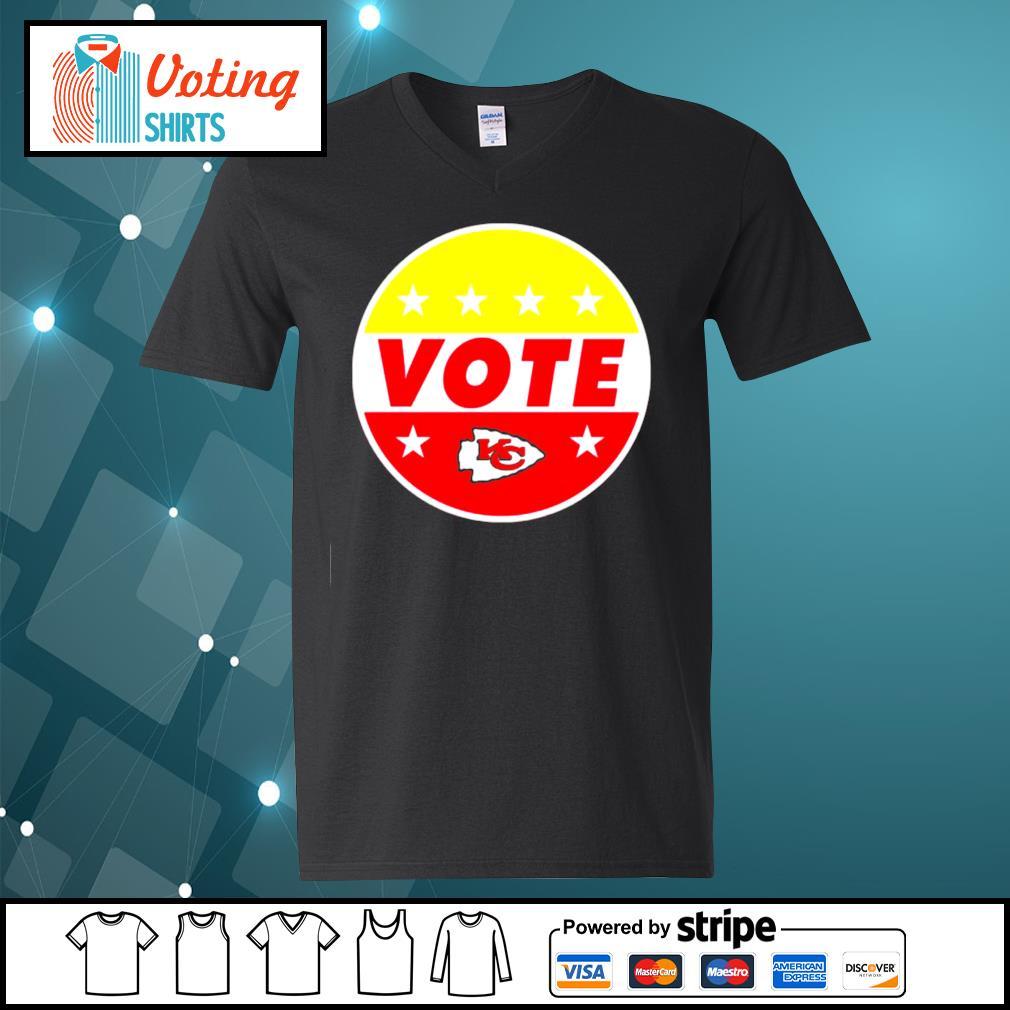 KC Chiefs vote s v-neck-t-shirt