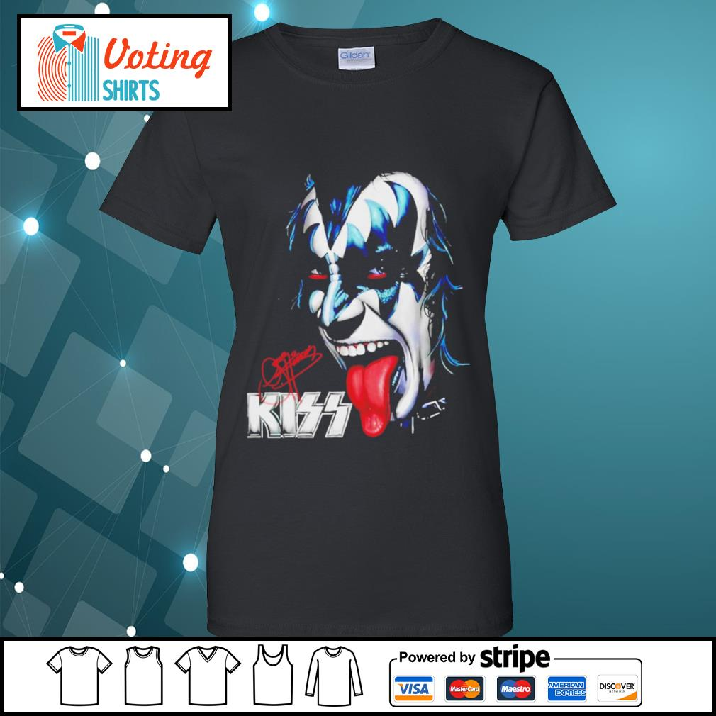 Kiss signature music band s ladies-tee