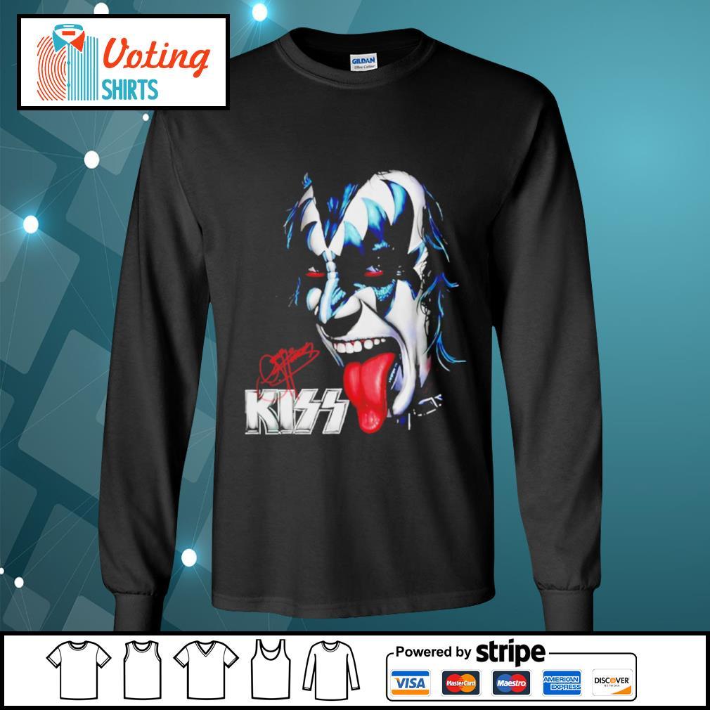 Kiss signature music band s longsleeve-tee