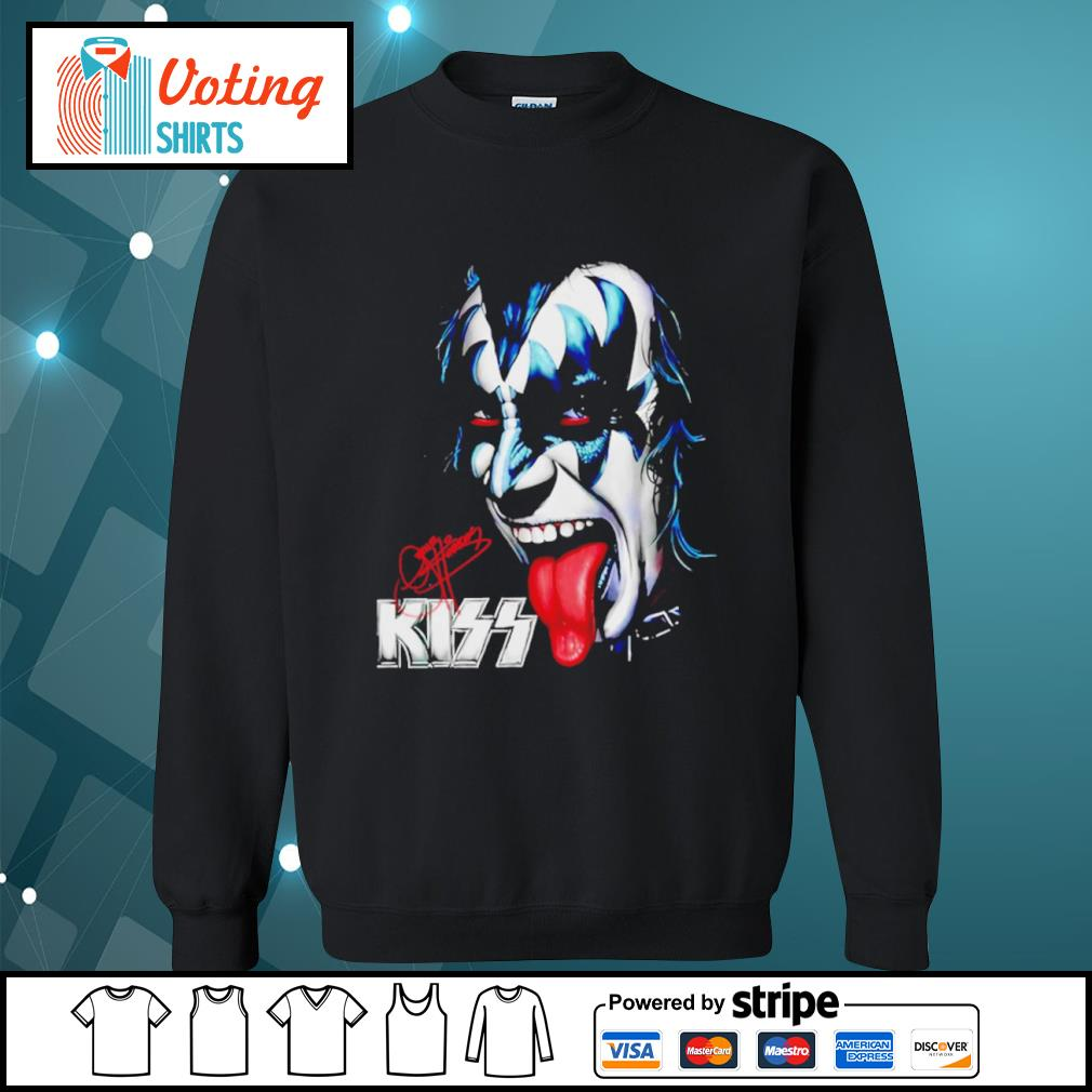 Kiss signature music band s sweater