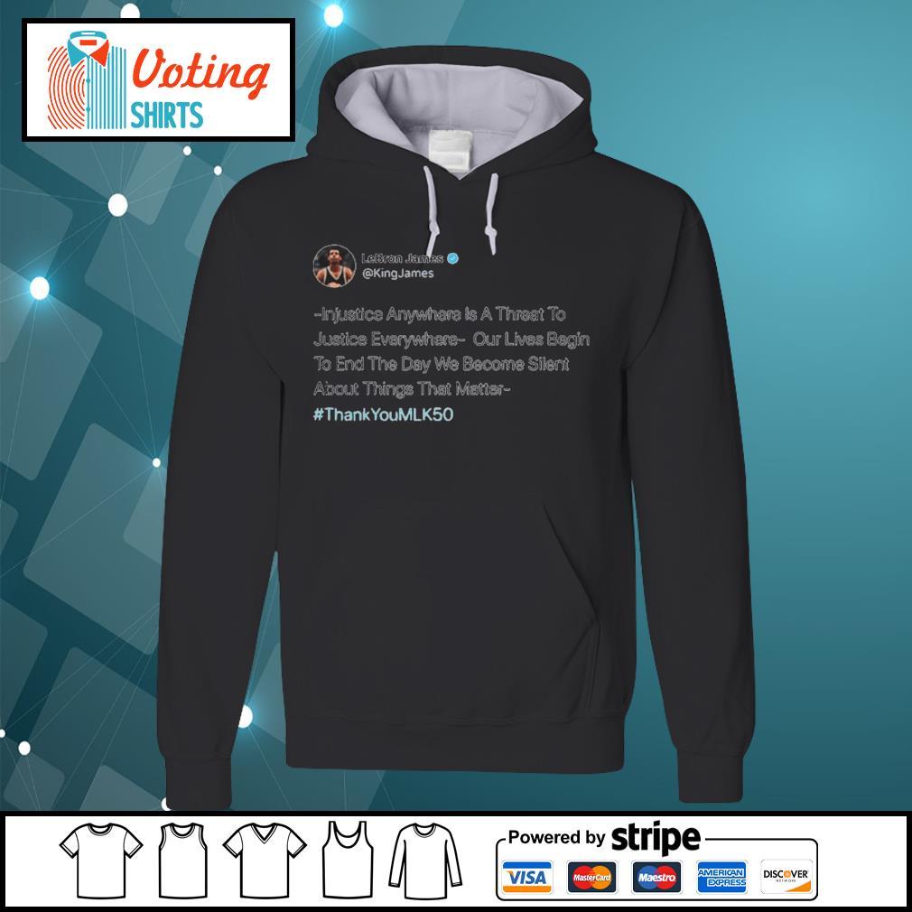 Lebron James Injustice Anywhere s hoodie
