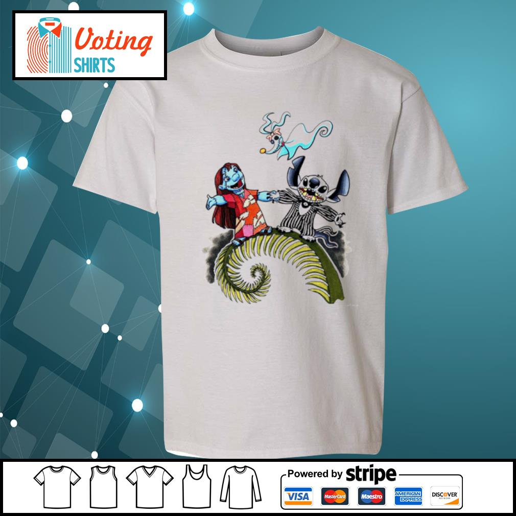 Lilo and Stitch Halloween Jack Skellington Sally Zero s youth-tee
